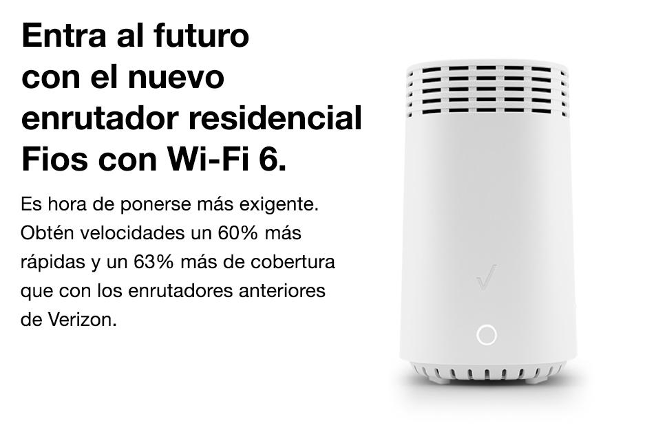 Entra al futuro con el nuevo enrutador residencial Fios con Wi-Fi 6.