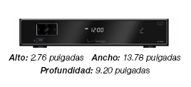 Dimensiones del Cisco CHS 335 HD