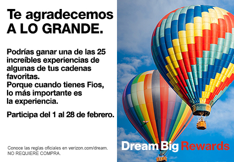 Promoción Dream big rewards