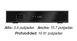 Cisco CHS 335 HD Set-top Box - a black box - 3 by 15 by 10 inches