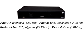 Motorola 7100-P2 HD Set-top Box - a black box weighing 4 lbs, 2.6 inches high, 12.6 inches wide and 8.7 inches deep