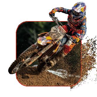Imagen de un piloto de motocross