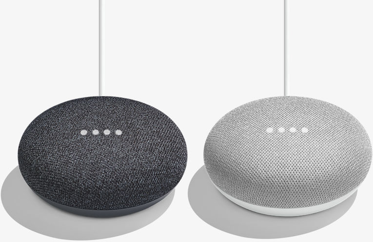 Google Home Mini en colores carbón o tiza