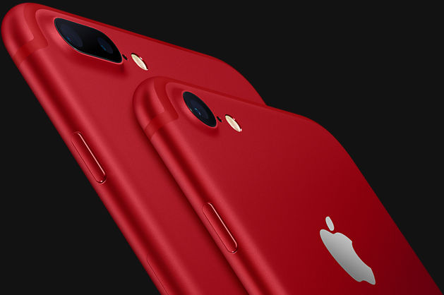Parte trasera del iPhone 7 y iPhone 7 Plus (PRODUCT) RED